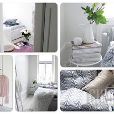 ห้องนอนสีขาว สะอาด สบายตา