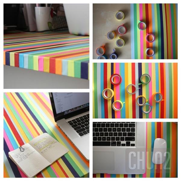 รูป 1 ตกแต่งโต๊ะทำงาน ให้มีสีสัน