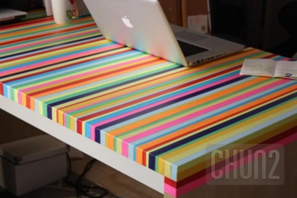 รูป 5 ตกแต่งโต๊ะทำงาน ให้มีสีสัน