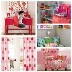 ไอเดียตกแต่งห้องเขียนหนังสือเด็ก สีชมพูสวยๆ