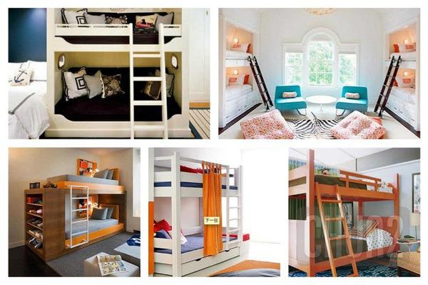 รูป 1 ไอเดียเตียงสองชั้น สำหรับห้องนอนเด็ก