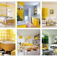 ไอเดียตกแต่งบ้าน สีเหลือง