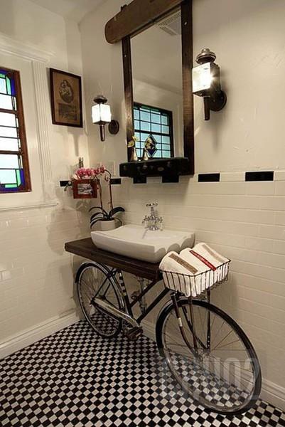 ตกแต่งห้องน้ำด้วย จักรยาน