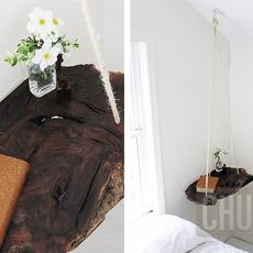 ไม้แผ่น แขวนประดับห้องนอน แทนโต๊ะ