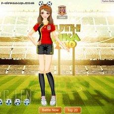 เกมส์แต่งตัวตุ๊กตา ชุดเชียร์บอลโลก 2010