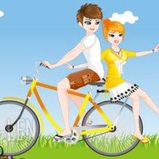 เกมส์แต่งตัว สองหนุ่มสาว ชุดปั่นจักรยาน