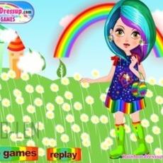 เกมส์แต่งตัวตุ๊กตา สาวสีรุ้ง