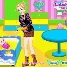 เกมส์แต่งตัวตุ๊กตา ชุดคุณแม่ยังสาว