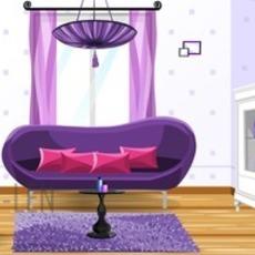 เกมส์ตกแต่ง ห้องนั่งเล่น สีม่วง