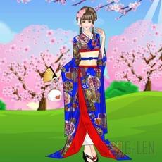 เกมส์แต่งตัวสาวสวย ชุดกิมโมโน