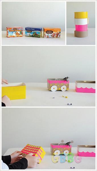รูป 2 ทำของเล่นให้ลูก รถไฟจากกล่องเก่าๆ