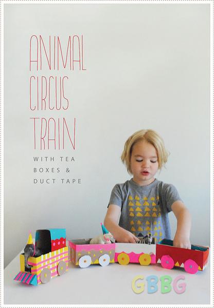 รูป 6 ทำของเล่นให้ลูก รถไฟจากกล่องเก่าๆ