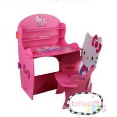โต๊ะเขียนหนังสือ ลายคิตตี้ Hello Kitty สีชมพู