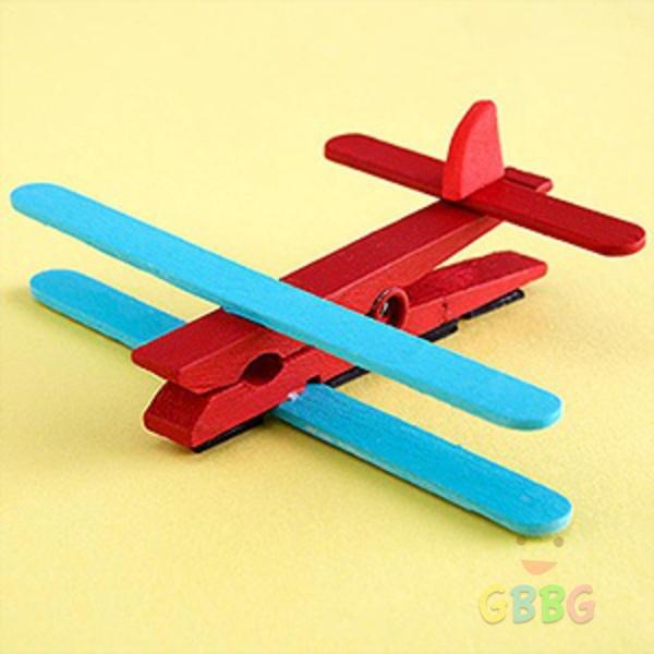 ทำเครื่องบิน จากไม้หนีบผ้า