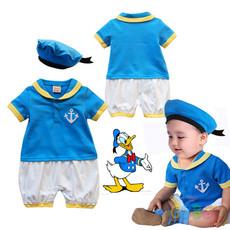 ชุดทหารเรือลายสีฟ้า เหลือง ขาว สำหรับเด็กเล็ก