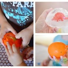 ไอเดียทำของเล่นให้ลูก ไข่ไดโนเสาร์แช่แข็ง