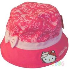 หมวกคิตตี้ สีชมพู แบบปีกบาน