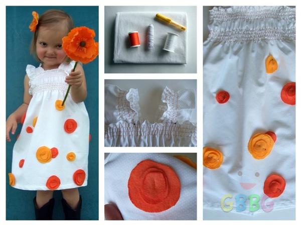 รูป 1 ทำชุดเดรสน่ารักๆ ลายดอกให้เด็กผู้หญิงน่ารักๆ