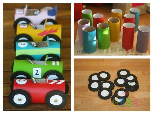 รูป 1 ทำรถของเล่น จากแกนกระดาษทิชชู