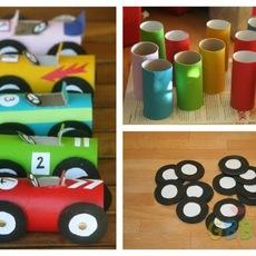 ทำรถของเล่น จากแกนกระดาษทิชชู
