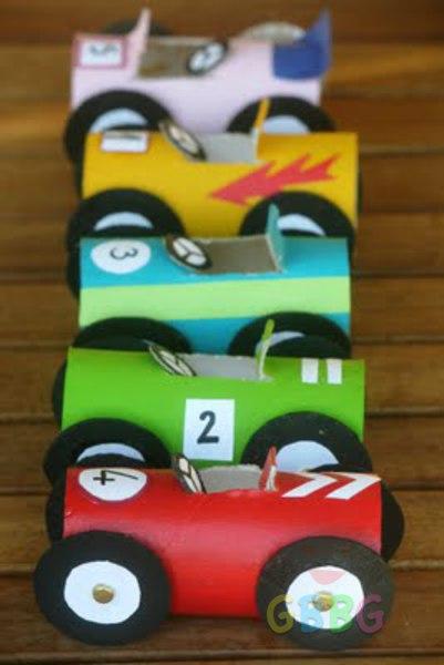 รูป 7 ทำรถของเล่น จากแกนกระดาษทิชชู