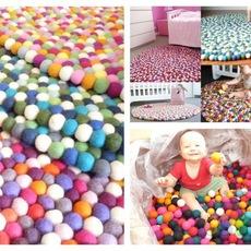 ทำที่นั่งเล่นให้ลูก จากลูกบอลหลากสี