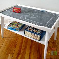 ทำโต๊ะเป็นที่เรียน เล่น