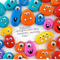 ของเล่นเด็กน่ารักๆ ก้อนหินระบายสีสวย