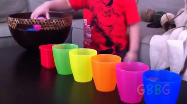 เรียนรู้เรื่องสี ด้วยแก้วและลูกบอล สำหรับเด็กเล็ก