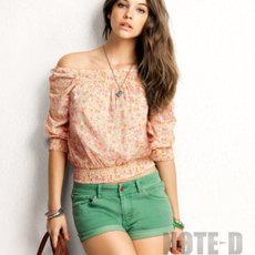 H&M ขาสั้นยีนส์สีเขียว แดง เหลือง ชมพู