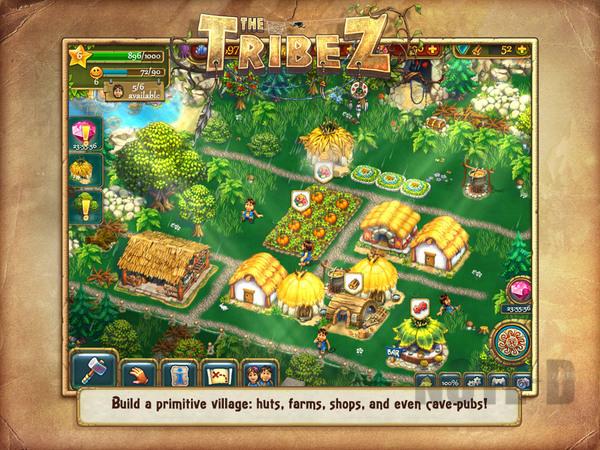รูป 1 เกมสร้างเมือง The Tribez HD โหลดฟรีลงไอแพด