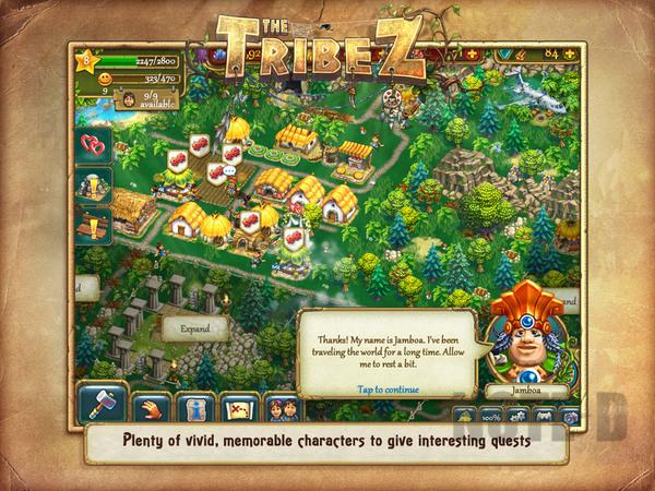 รูป 3 เกมสร้างเมือง The Tribez HD โหลดฟรีลงไอแพด