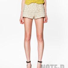 กางเกงโครเชต์ขาสั้น ของ Zara