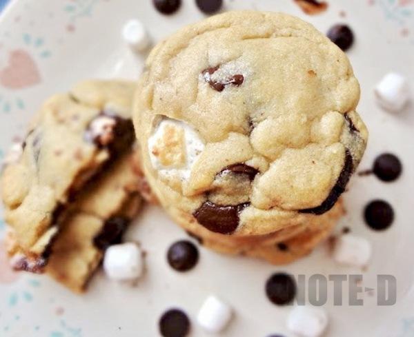 รูป 1 สอนทำคุ้กกี้ช็อกโกแลตมาร์ชเมลโล่