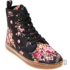 รองเท้า Dr Martens ลายดอกไม้