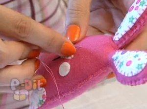 สอนทำตุ๊กตาผ้า ตัวกระต่าย
