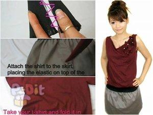 สอนตัดชุดเดรส จากเสื้อยืดตัวเก่า