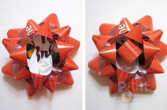 รูป 6 สอนทำโบว์ ตกแต่งกล่องของขวัญ