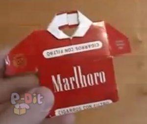 สอนพับเสื้อกระดาษ จากกล่องบุหรี่