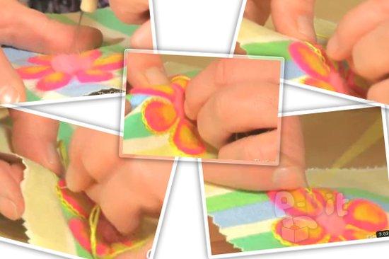 รูป 1 สอนทำดอกไม้ เย็บขอบดอกไม้ ในผ้า