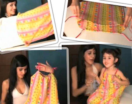 รูป 1 สอนทำชุดเดรส สำหรับเด็ก จากปลอกหมอน