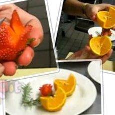 วิธีแกะสลักผลไม้ ตกแต่งจานอาหาร สวยๆ