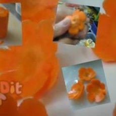 สอนแกะสลัก แครอท เป็นรูปดอกไม้