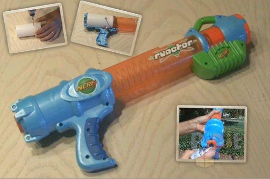 รูป 1 วิธีดัดแปลงของเล่น จากยิงใกล้ ให้ยิงไกลขึ้น