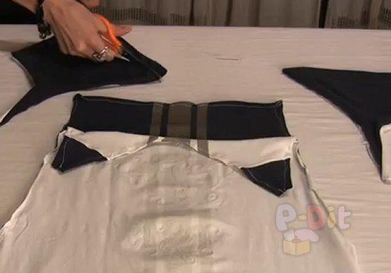 รูป 3 สอนตัดชุดคลุม บิกินี่ จากเสื้อยืด