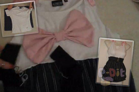 รูป 1 สอนทำชุดเดรส จากเสื้อยืด + กระโปรง