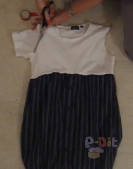 รูป 3 สอนทำชุดเดรส จากเสื้อยืด + กระโปรง