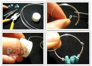 สอนทำต่างหูแบบวงกลม ตกแต่งด้วยหินสี