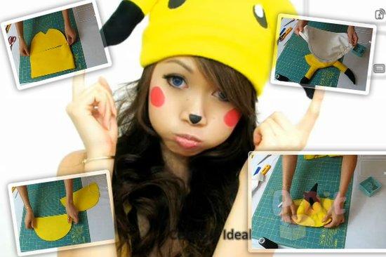 รูป 1 สอนทำหมวกมาสคอท ปิกะจู น่ารักๆ