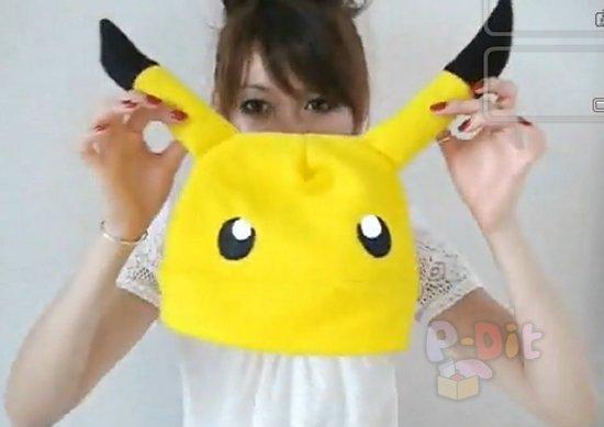 รูป 2 สอนทำหมวกมาสคอท ปิกะจู น่ารักๆ